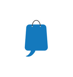 Flat design style concept of shoping bag with vector