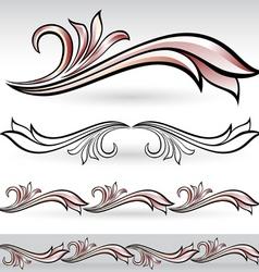 flora design set vector image vector image