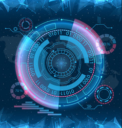 Futuristic interface hud design infographic vector