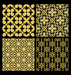 Golden spanish traditional kitchen tiles vector