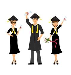 Happy graduation vector image vector image