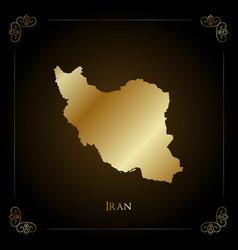 iran golden map vector image