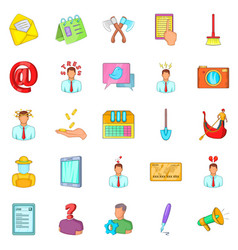 Job vacancy icons set cartoon style vector