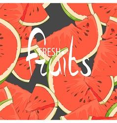 Juicy slices of watermelon vector image vector image