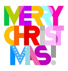 Merry christmas decorative text vector