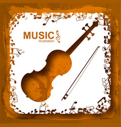 Music abstract composition vector