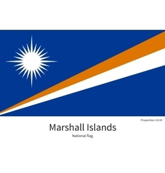 National flag of marshall islands with correct vector