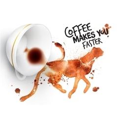 Poster wild coffee guepard vector