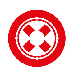Round icon lifebuoy icon cartoon vector
