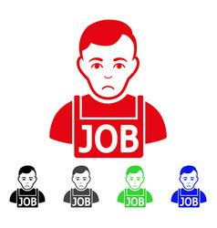 Sad jobless icon vector