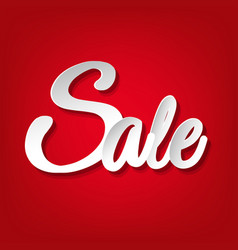 sale red poster vector image