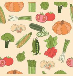 seamless pattern vegetable vector image