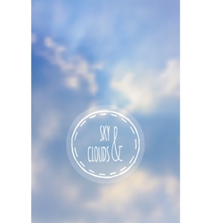 Sky and clouds with blur vector image