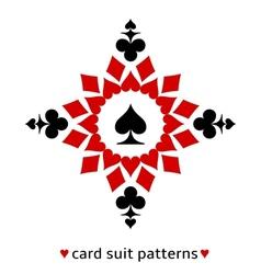 Spade card suit snowflake vector