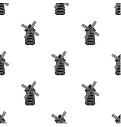 Spanish mill icon in black style isolated on white vector