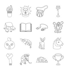 Sports education animal and other web icon in vector
