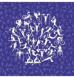 Sports man symbols vector
