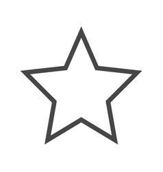 star thin line icon vector image vector image