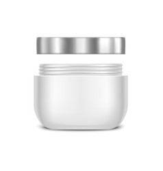 Template Blank White Cream Jar vector image vector image