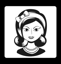 woman retro vector image
