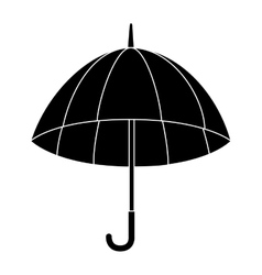 Umbrella open striped icon vector