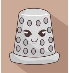 Thimble metal character icon vector