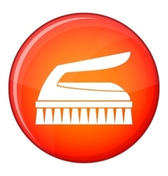 Brush for cleaning icon flat style vector