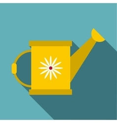 Watering can icon flat style vector
