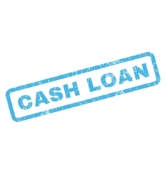 Cash loan rubber stamp vector