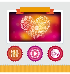 Design template with music icons vector