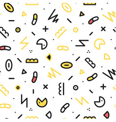memphis seamless pattern fashion 80-90s vector image