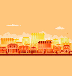 Urban avenue scene with smart townhouses vector