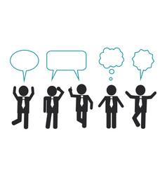 Businessmen think and speak vector