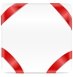 Blank page with red ribbon vector image