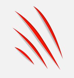 Claw vecror scratches vector