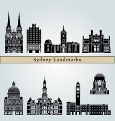 sydney v3 landmarks vector image