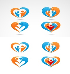 Family love icon collection set vector