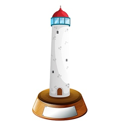 A tower trophy vector image