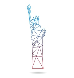 Statue of liberty abstract isolated vector