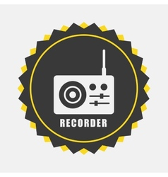 Recorder icon vector