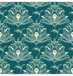 Indian styled floral ornament seamless pattern vector image