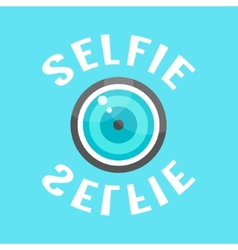 Concept of selfie with lense vector