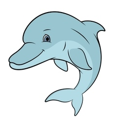 Smiling dolphin jumping vector
