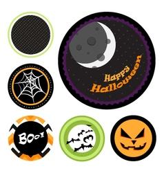 halloween badges vector image