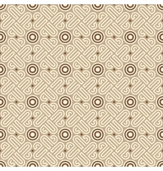 Seamless linear geometric pattern vector