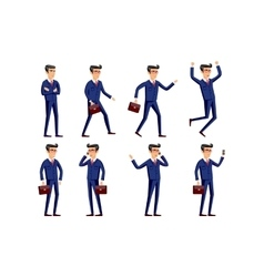 Set of Happy office man vector image