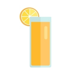 Glass with lemon beverage vector