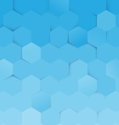 Abstract blue and white hexagon pattern background vector image vector image