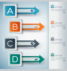 business abstract infographic concept vector image
