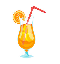 Cartoon style of fruit cocktail vector